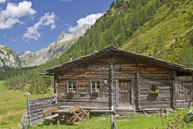 W Wschodnim Tyrol halna buda zdjęcie royalty free