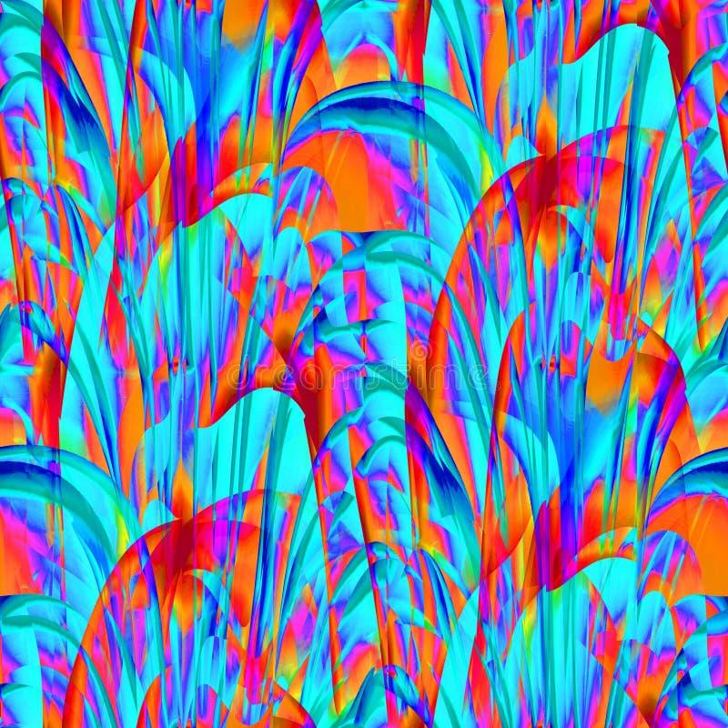 W zawiły sposób egzot wyginał się turkusowy pomarańczowy fiołkowy błękitnego purpurowy i ilustracji