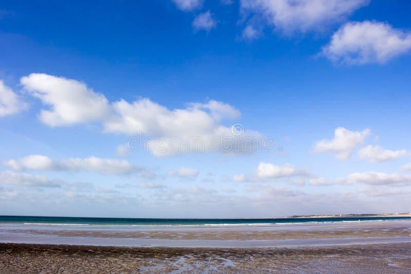 W zawiły sposób piasków wzory na kabel plaży, Broome, zachodnia australia fotografia royalty free
