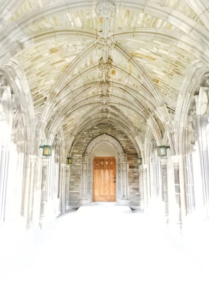 W zawiły sposób przyklasztorny sufitu szczegół blaknie środkowy drzwi zdjęcia royalty free