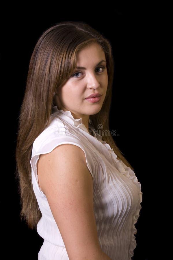 W zbliżeniu piękna młoda latynoska kobieta zdjęcia stock