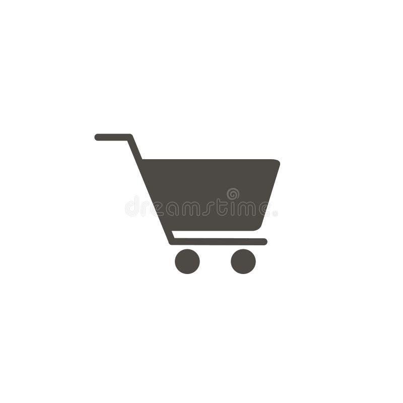 W?zek Na Zakupy ikona, p?askiego projekta najlepszy wektorowa ikona ilustracja wektor