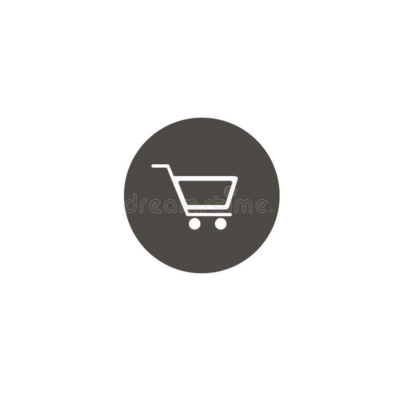 W?zek Na Zakupy ikona, p?askiego projekta najlepszy wektorowa ikona Kreskowa Round ikona ilustracja wektor
