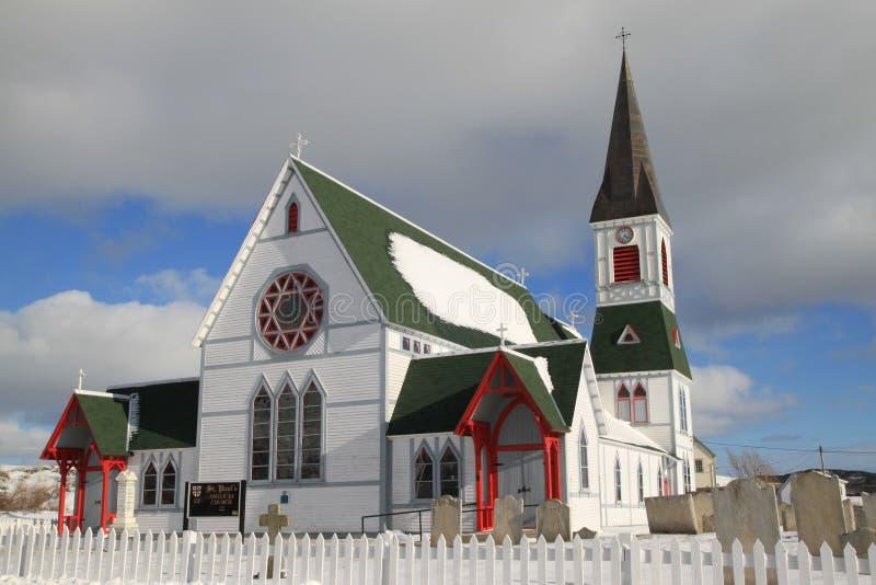 W Zima kraju Kościół obraz royalty free