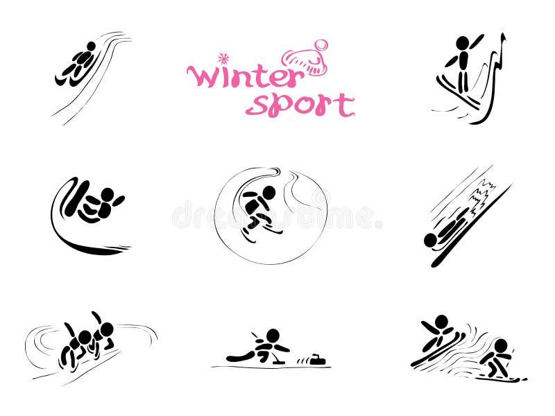 W zima sportach royalty ilustracja