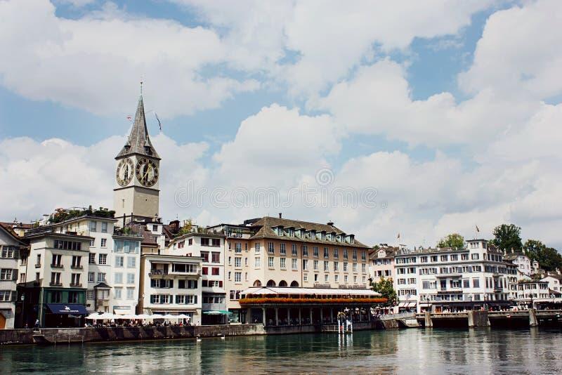 W Zurich Peter świątobliwy Kościół zdjęcia stock