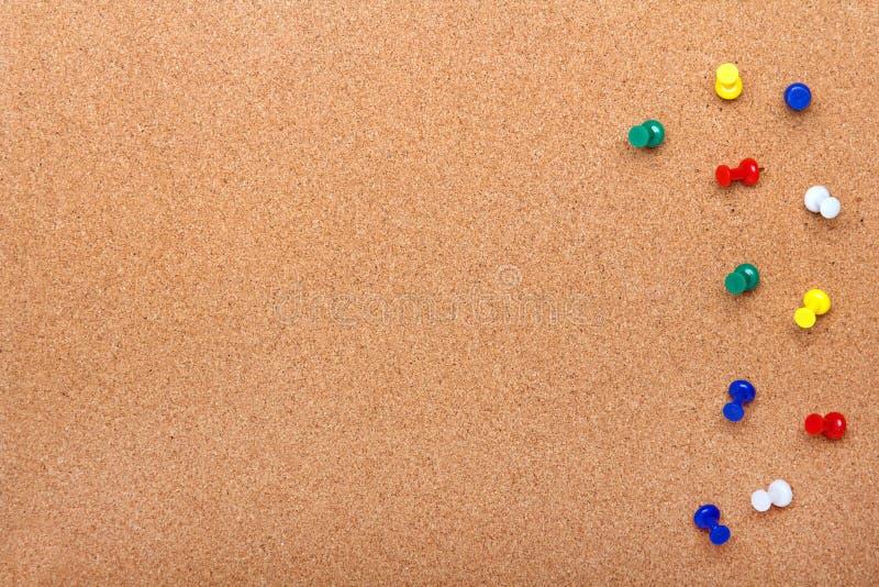 Wałkowa deskowa tekstura dla tła i kolorowej szpilki ramy obrazy stock