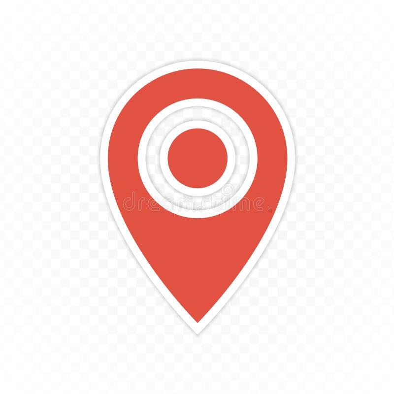 Wałkowa mapy nawigaci ikona royalty ilustracja
