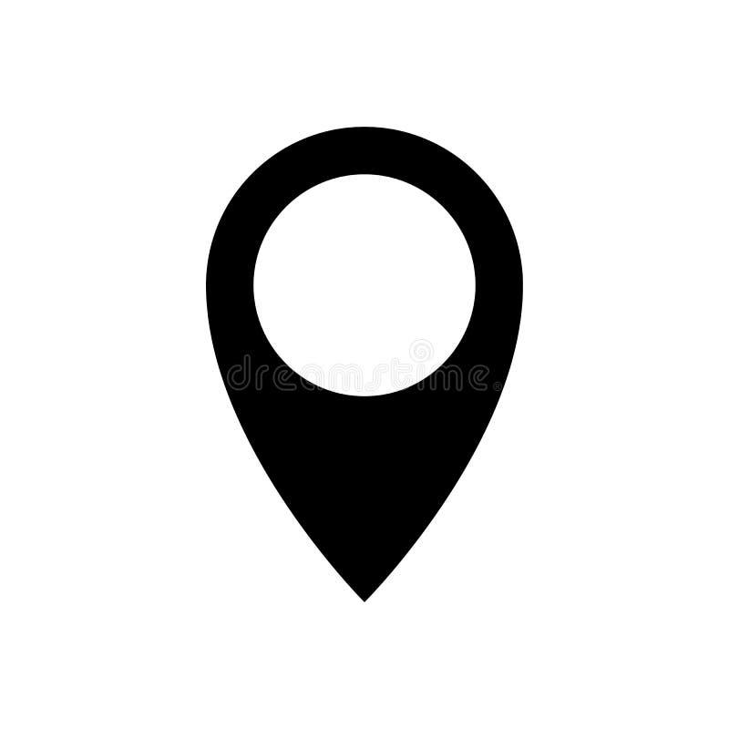 Wałkowa opadowa ikona, geolocation znak, lokacja symbol ilustracji