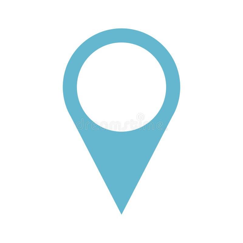 Wałkowa pointer lokaci ikona royalty ilustracja