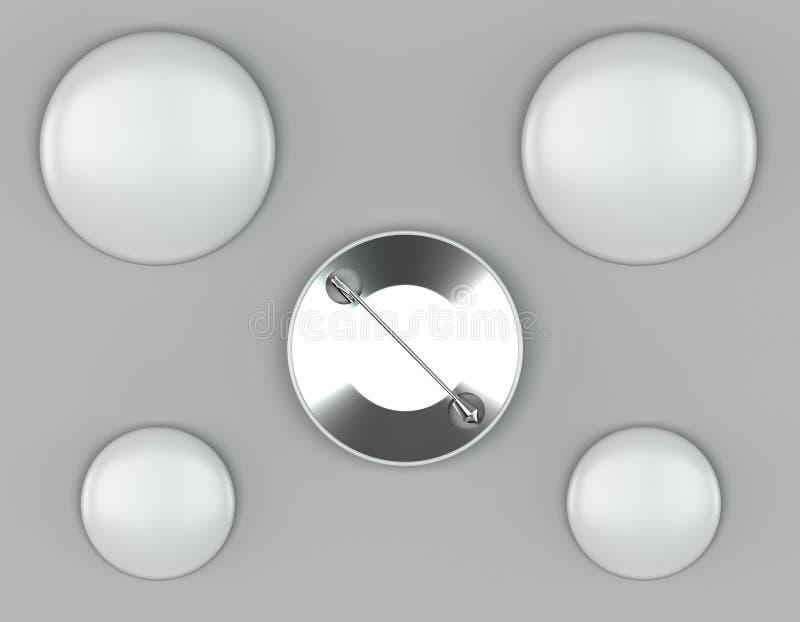 Wałkowi mockups na jaskrawym tle ilustracja wektor