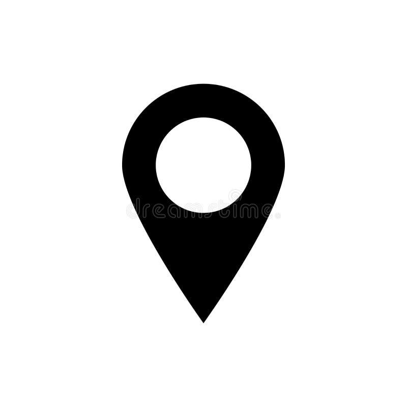 Wałkowy ikona wektor Lokacja znak Odizolowywający na białym tle royalty ilustracja