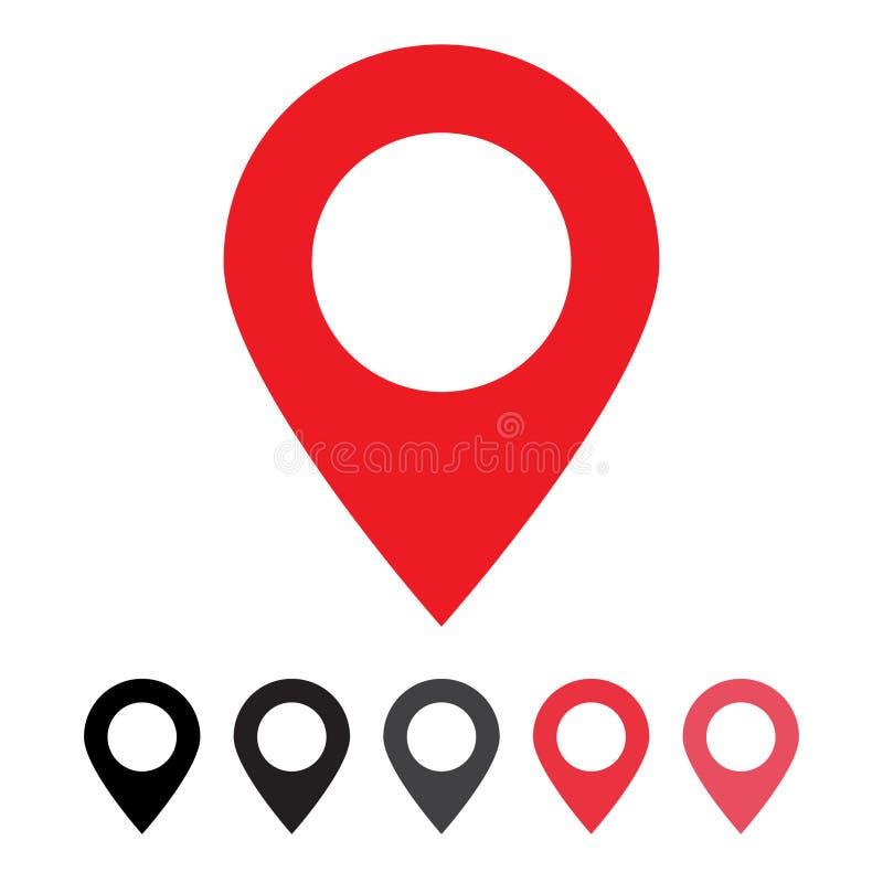 Wałkowy ikona wektor Lokacja znak Odizolowywający na białym tle Nawigacji mapa, gps, kierunek, miejsce, kompas, kontakt, ilustracji