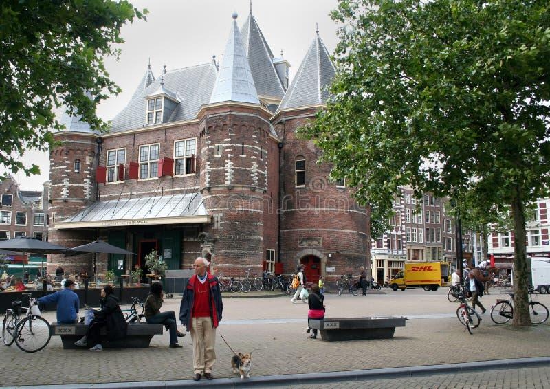 Ważenie buduje Amsterdam obrazy royalty free