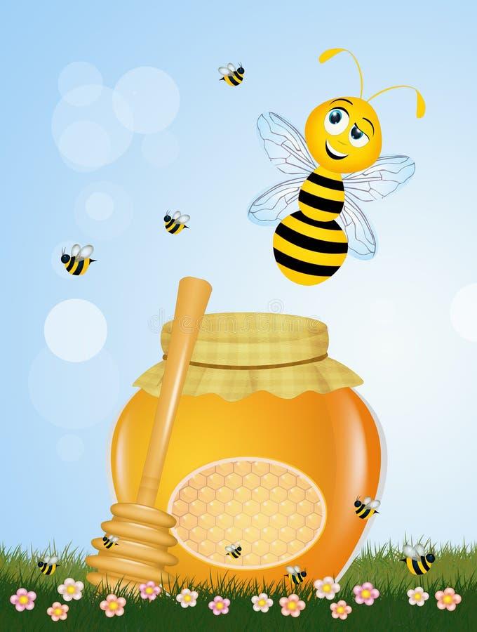 Ważność oszczędzanie pszczoły ilustracja wektor