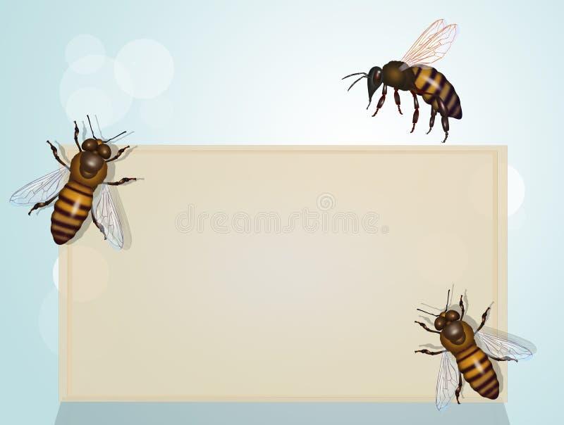 Ważność pszczoły dla planety royalty ilustracja
