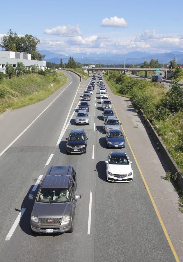 Ważny Kanadyjski ruchu drogowego dżem zdjęcie royalty free