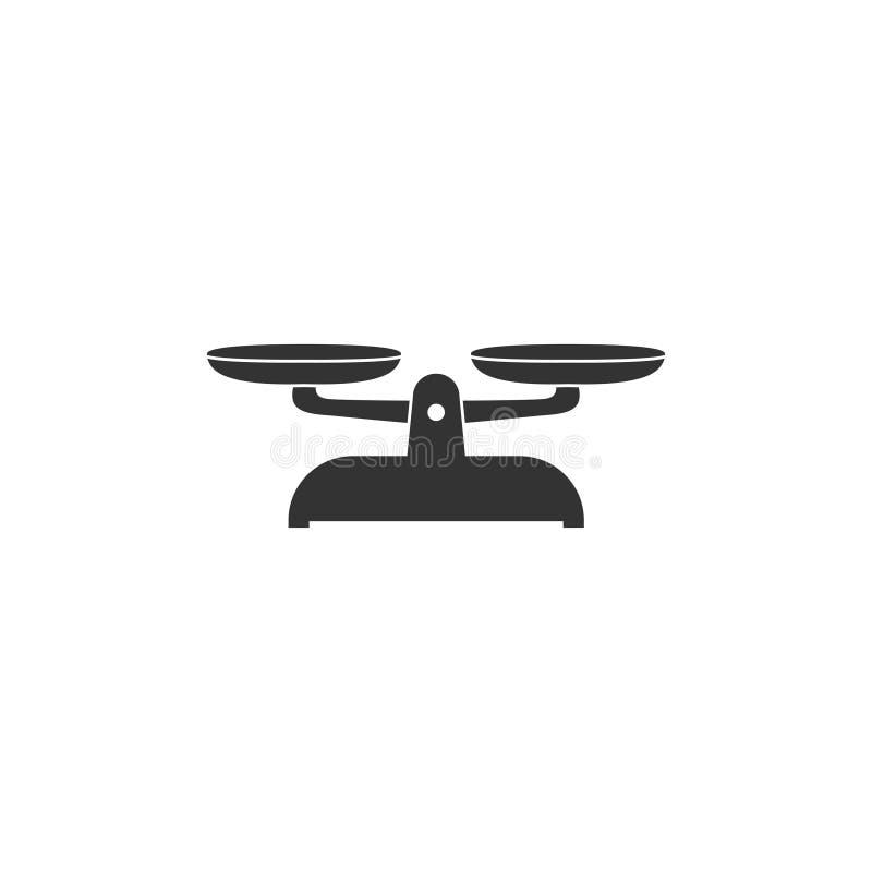 Waży ikonę w prostym projekcie r?wnie? zwr?ci? corel ilustracji wektora ilustracja wektor