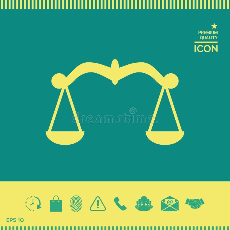 Waży, ikona symbol ilustracji
