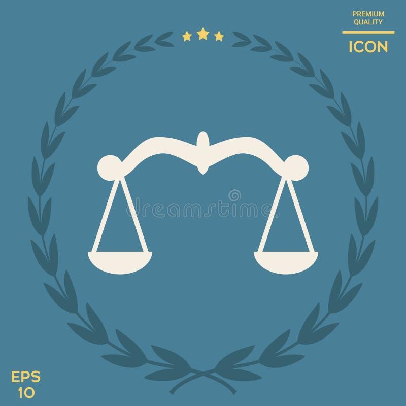 Waży, ikona symbol royalty ilustracja