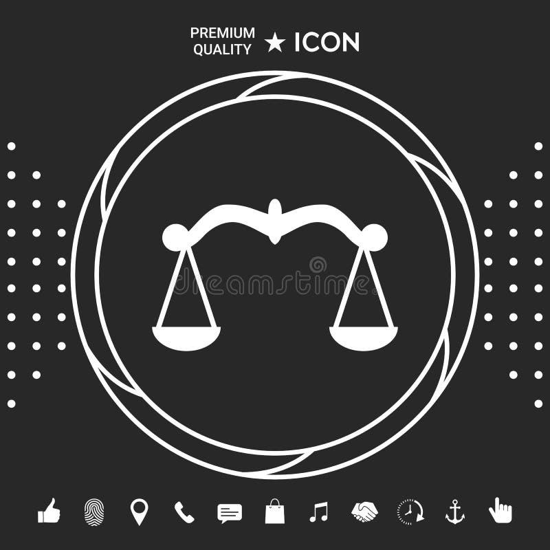 Waży, ikona symbol Graficzni elementy dla twój designt ilustracji