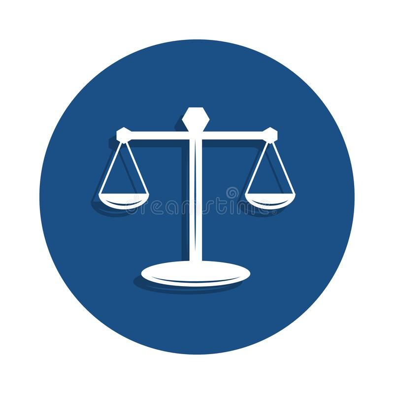 waży prawo ikona w odznaka stylu Jeden Milicyjna inkasowa ikona może używać dla UI, UX royalty ilustracja