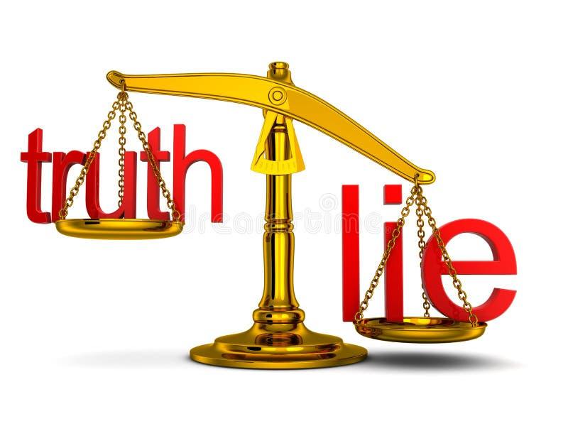 Waży, przewag kłamstwa royalty ilustracja