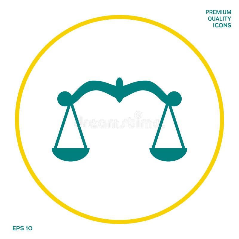 Waży symbol, ikona Graficzni elementy dla twój projekta royalty ilustracja