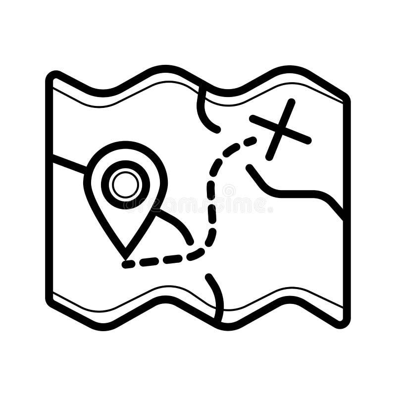 Wa?kowa mapy ikona ilustracja wektor