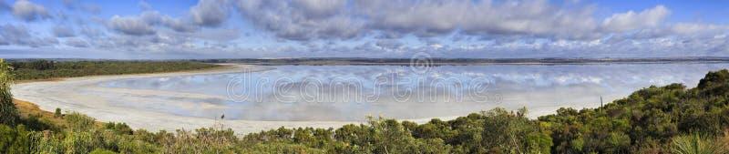 WA menchii jeziorny esperance 50 mm panoram zdjęcie stock