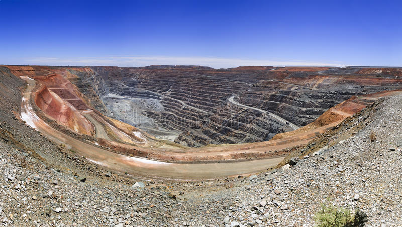 WA super Pit Panorama stock foto