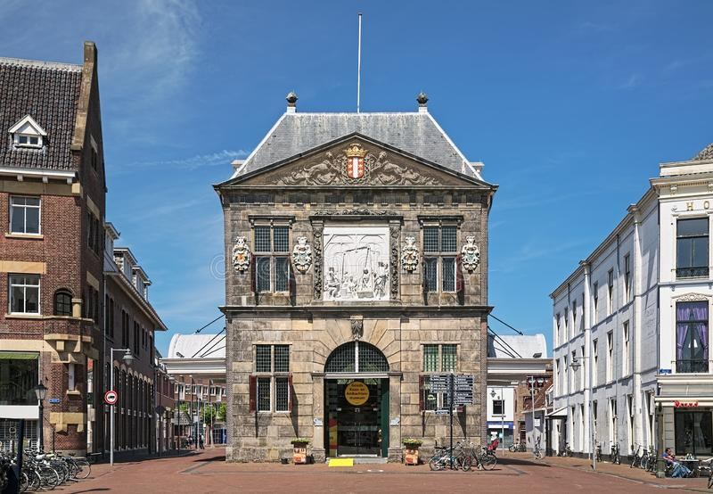 The Waag - a cheese weighing house in Gouda, Netherlands royalty free stock images
