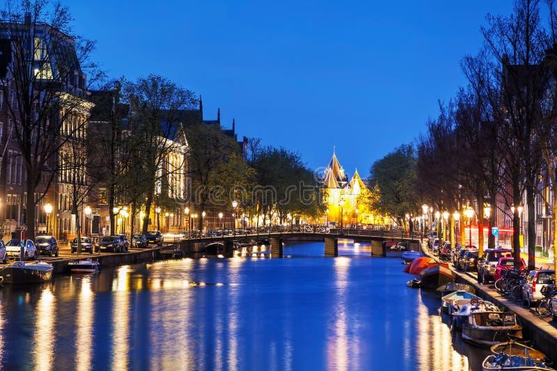 Waag (weeg huis) in Amsterdam royalty-vrije stock afbeelding