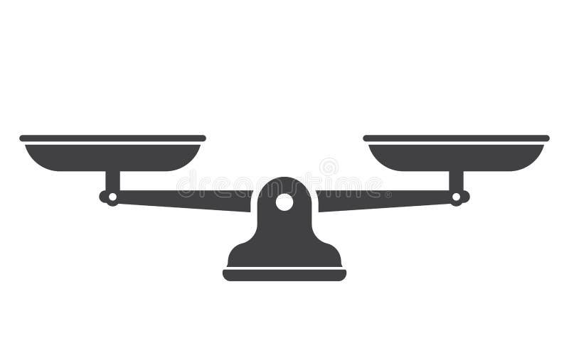 Waage lokalisiert auf weißem Hintergrund stock abbildung