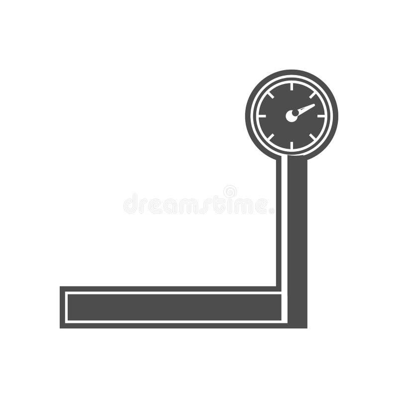 Waageikone Element von minimalistic f?r bewegliches Konzept und Netz Appsikone Glyph, flache Ikone f?r Websiteentwurf und Entwick lizenzfreie abbildung
