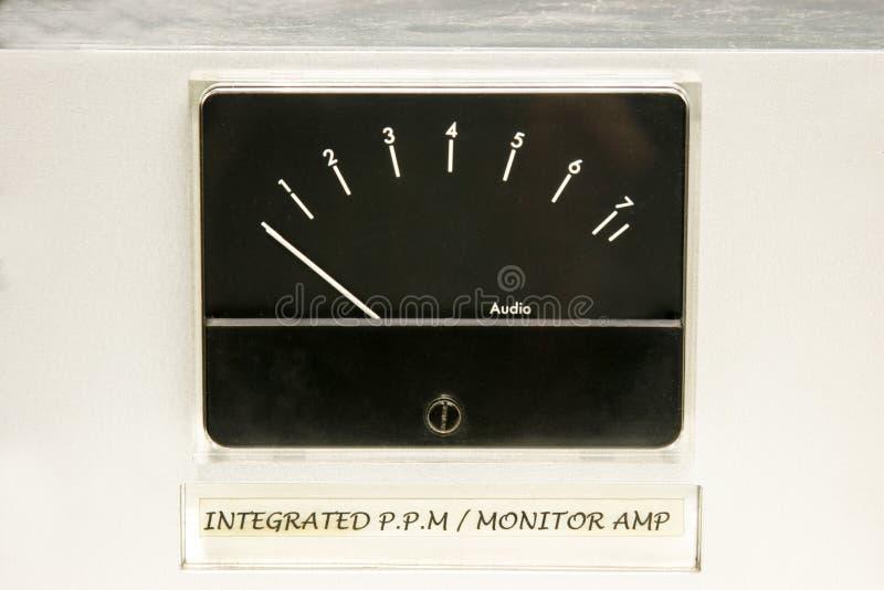 Waagerecht ausgerichtetes Audiomeßinstrument lizenzfreies stockfoto