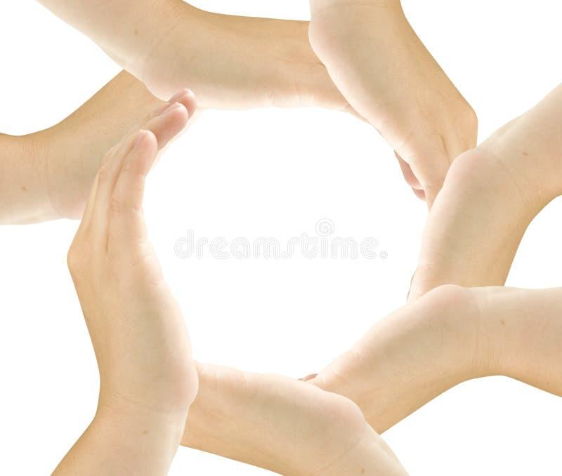 Waaier van de handen stock foto