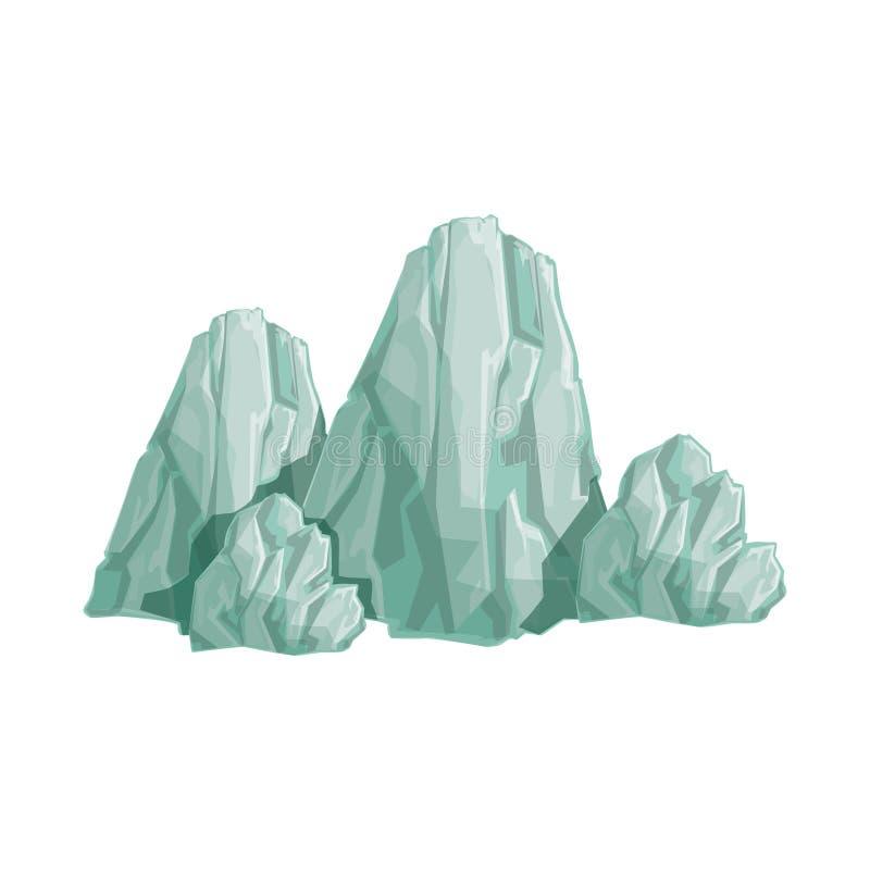 Waaier van Grey Rocks Natural Landscape Design-Element, een Deel van Landschap in Aard Modellerende Aannemer royalty-vrije illustratie