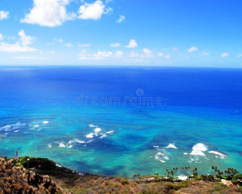 Waar de Oceaan de Hemel ontmoet stock afbeelding
