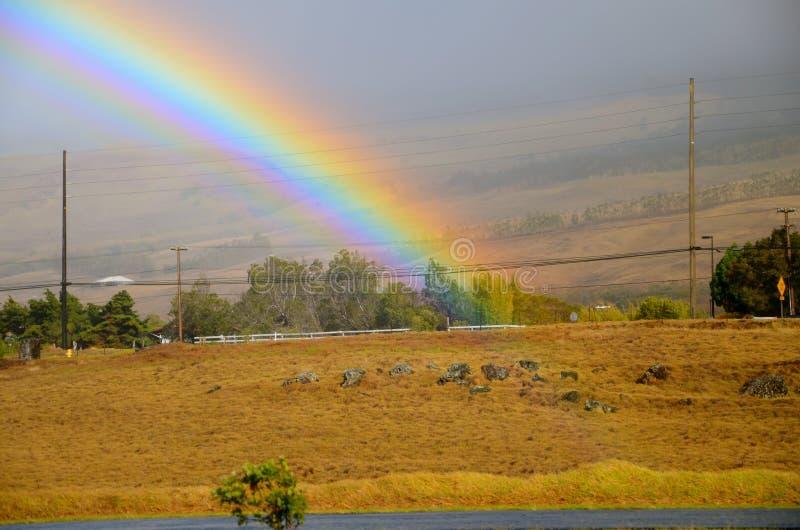 Waar de regenboog beëindigt royalty-vrije stock afbeelding