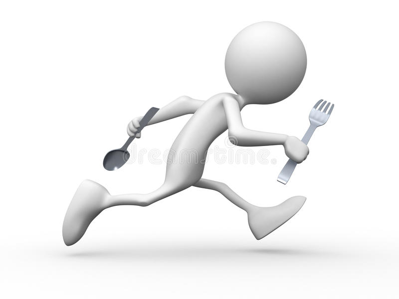 Waar maaltijd? stock illustratie