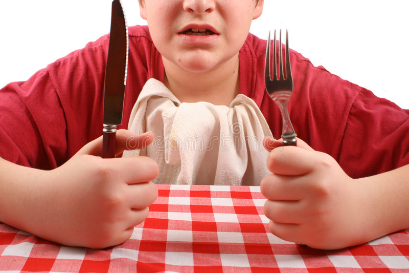 Waar is mijn diner? royalty-vrije stock foto's