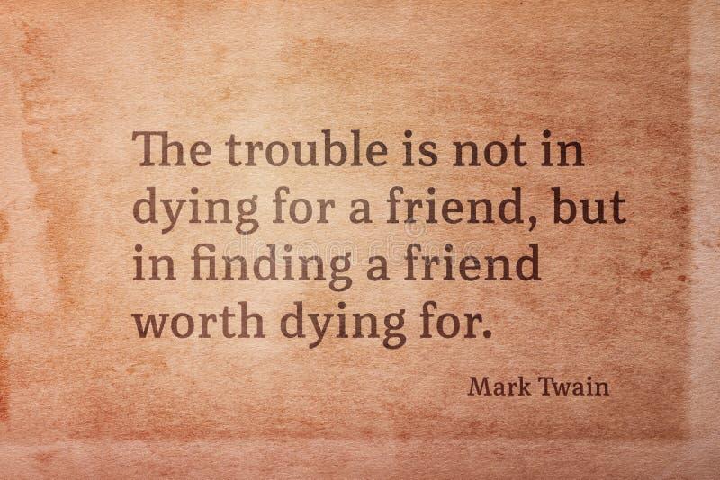 Waard stervend Twain royalty-vrije stock afbeeldingen