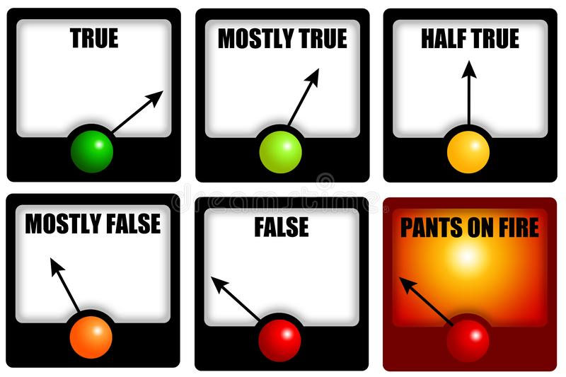 Waarheid en leugens vector illustratie