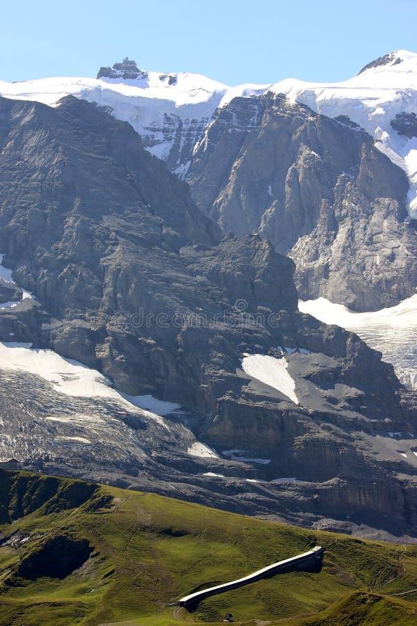 Waarnemingscentrum de Sfinx op Zwitserse Jungfraujoch royalty-vrije stock afbeeldingen