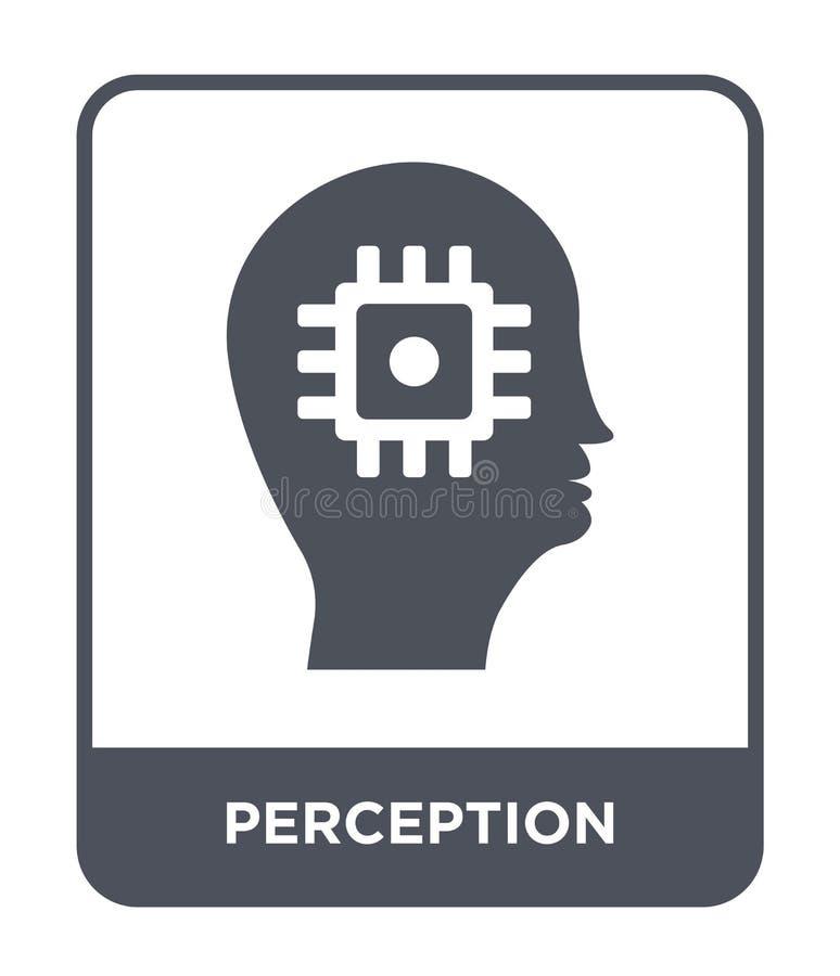 waarnemingspictogram in in ontwerpstijl waarnemingspictogram op witte achtergrond wordt geïsoleerd die eenvoudig en modern waarne royalty-vrije illustratie