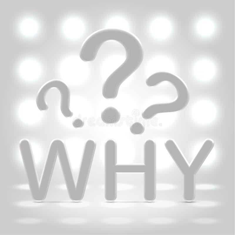 Waarom vragen over aangestoken achtergrond royalty-vrije illustratie