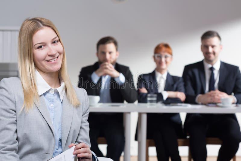 Waarom wilt u in ons bedrijf werken? royalty-vrije stock foto's