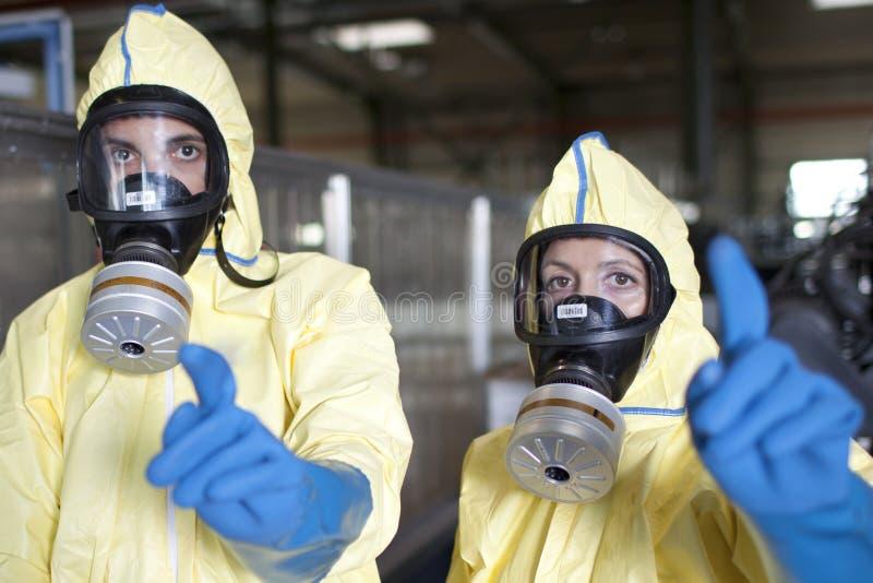 Waarschuwing wegens chemisch gevaar royalty-vrije stock fotografie
