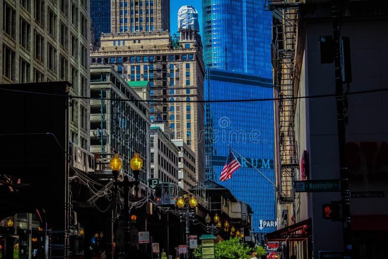 Wabash et Washington, Chicago IL photos libres de droits